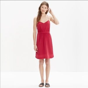 Madewell Silk Daylight Cami Dress Red SZ 4